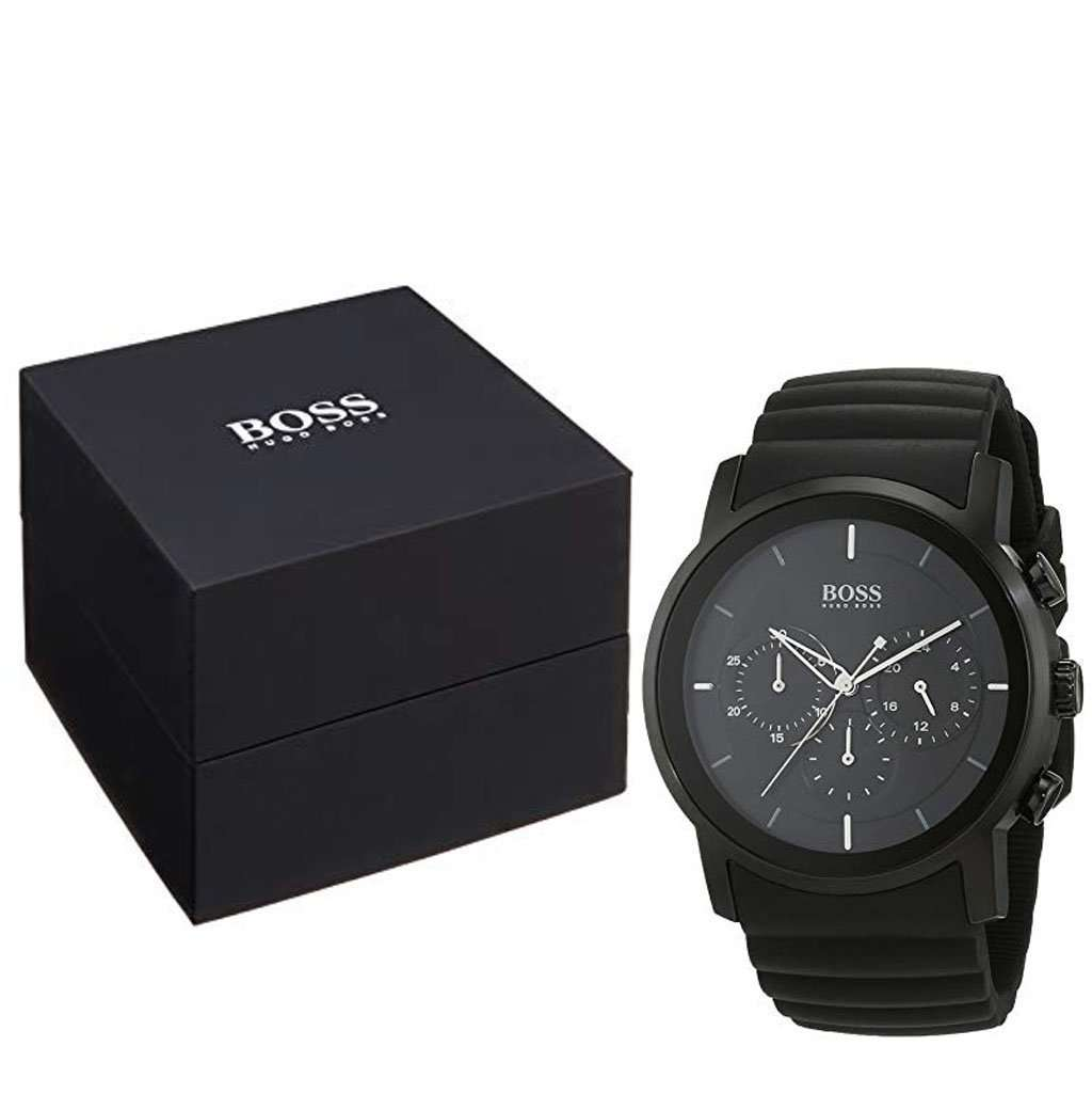 Hugo Boss Men's HB 1512639 Black Dial Chronograph Watch Steel Umisfashion Store
