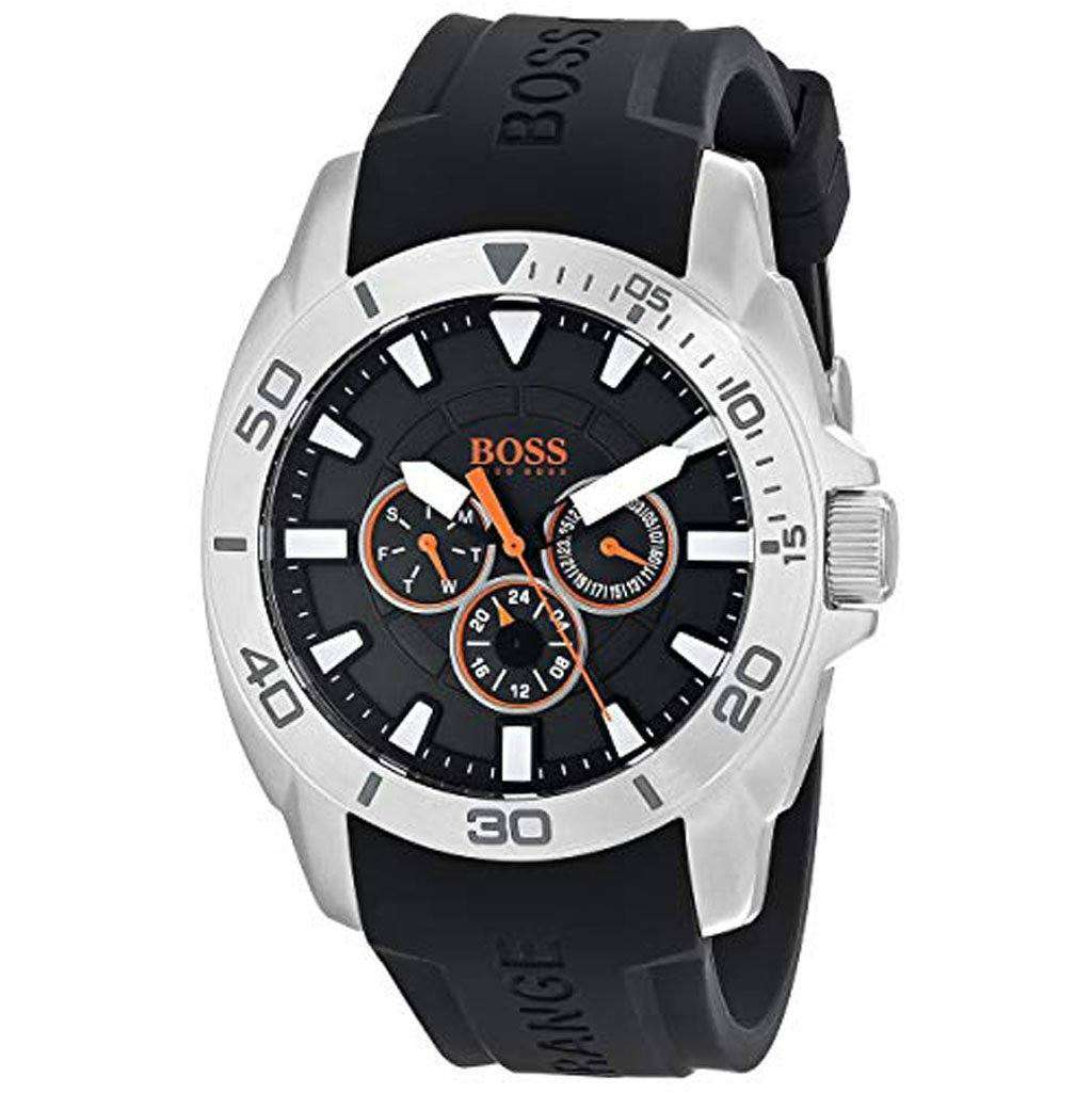 Hugo Boss Men's 1512950 Orange Stainless Steel Casual Watch Steel Umisfashion Store