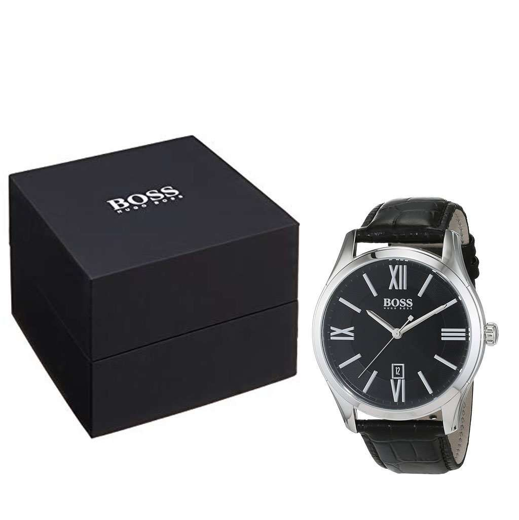 Hugo Boss Men's HB 1513194 Black Stainless Steel Watch Steel Umisfashion Store