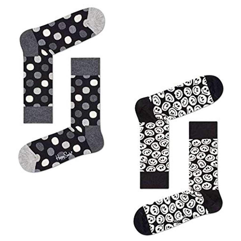 Happy Socks Men's Black & White Socks With Gift Box Accessories Umisfashion Store