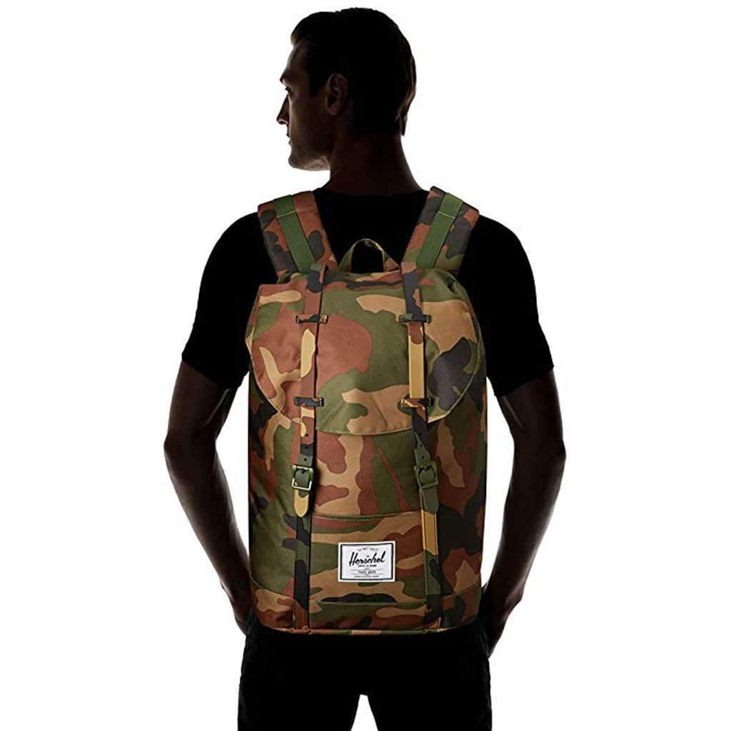 Herschel Retreat Woodland Camo Leather Umisfashion Store
