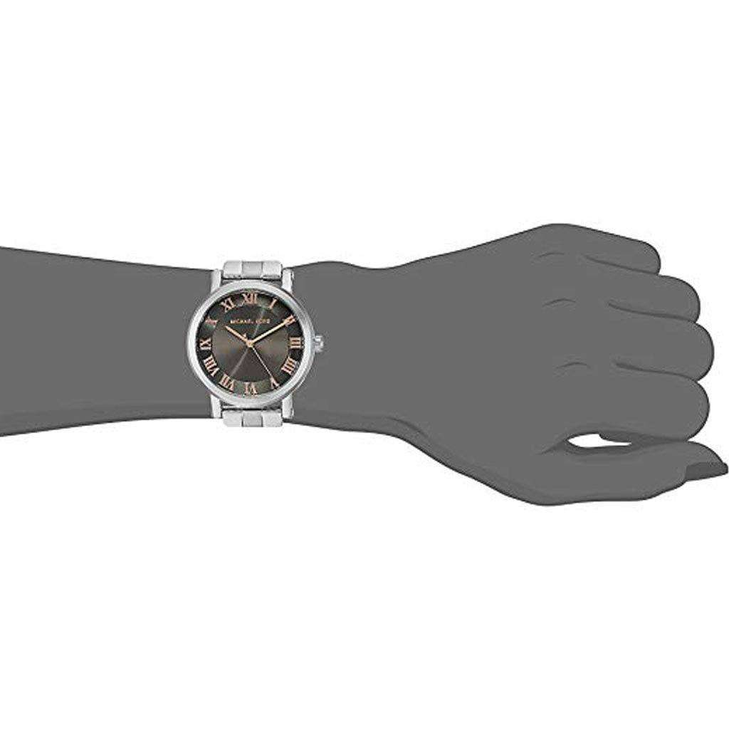 Michael Kors Women's Silver-tone Norie Stainless Steel Watch Steel Umisfashion Store