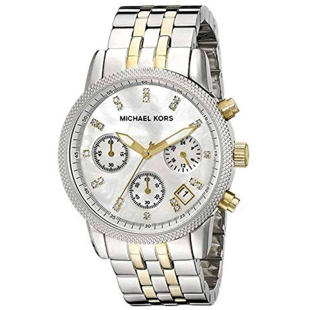 Michael Kors MK 5057 Women's Two-Tone Chronograph Watch Steel Umisfashion Store