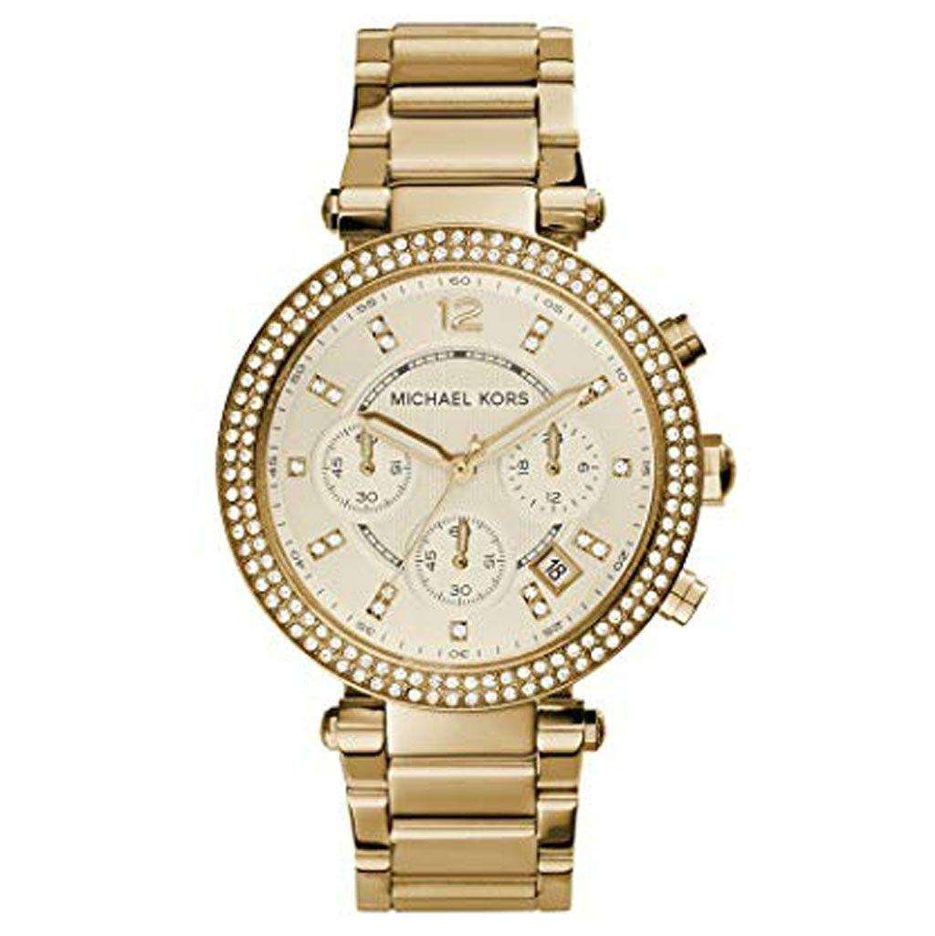 Michael Kors MK 5354 Ladies Parker Chronograph Watch Steel Umisfashion Store