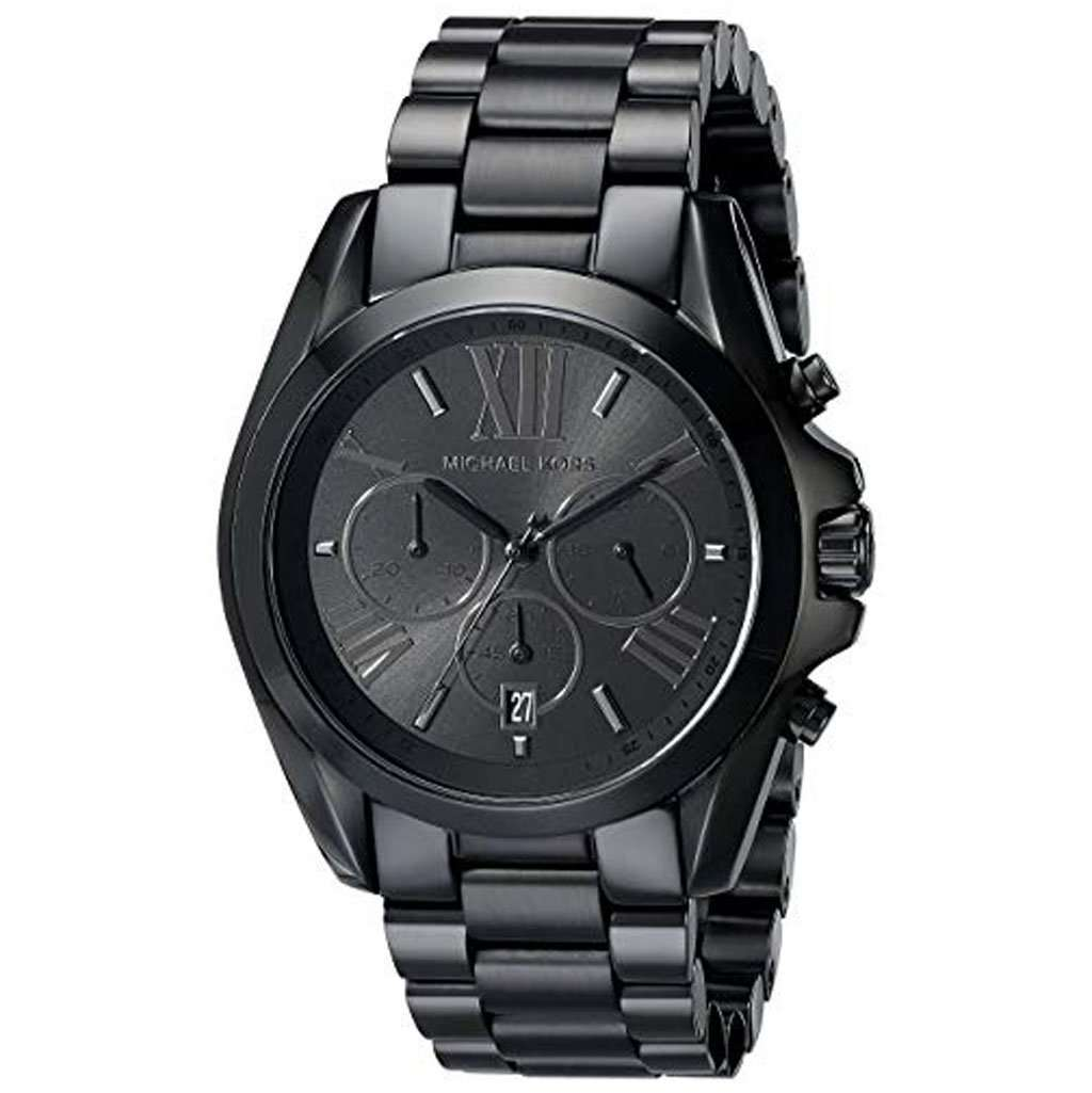 Michael Kors MK 5550 Men's Bradshaw Blacktone Watch Steel Umisfashion Store