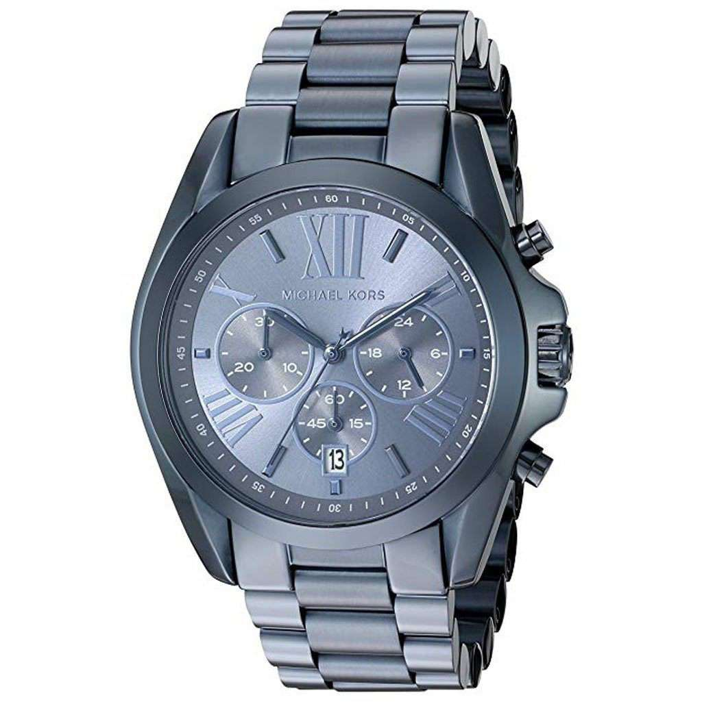 Michael Kors Women's MK 6248 Navy IP Chronograph Watch Steel Umisfashion Store