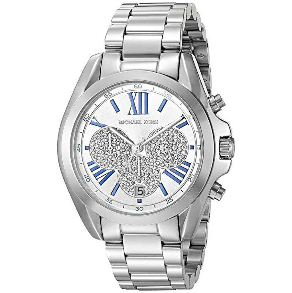 Michael Kors Women's MK 6320 Bradshaw Silver-Tone Watch Steel Umisfashion Store