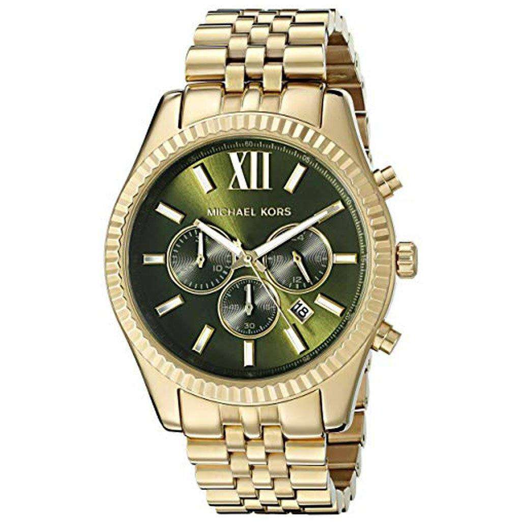 Michael Kors Men's MK 8446 Lexington Gold-Tone Watch Steel Umisfashion Store