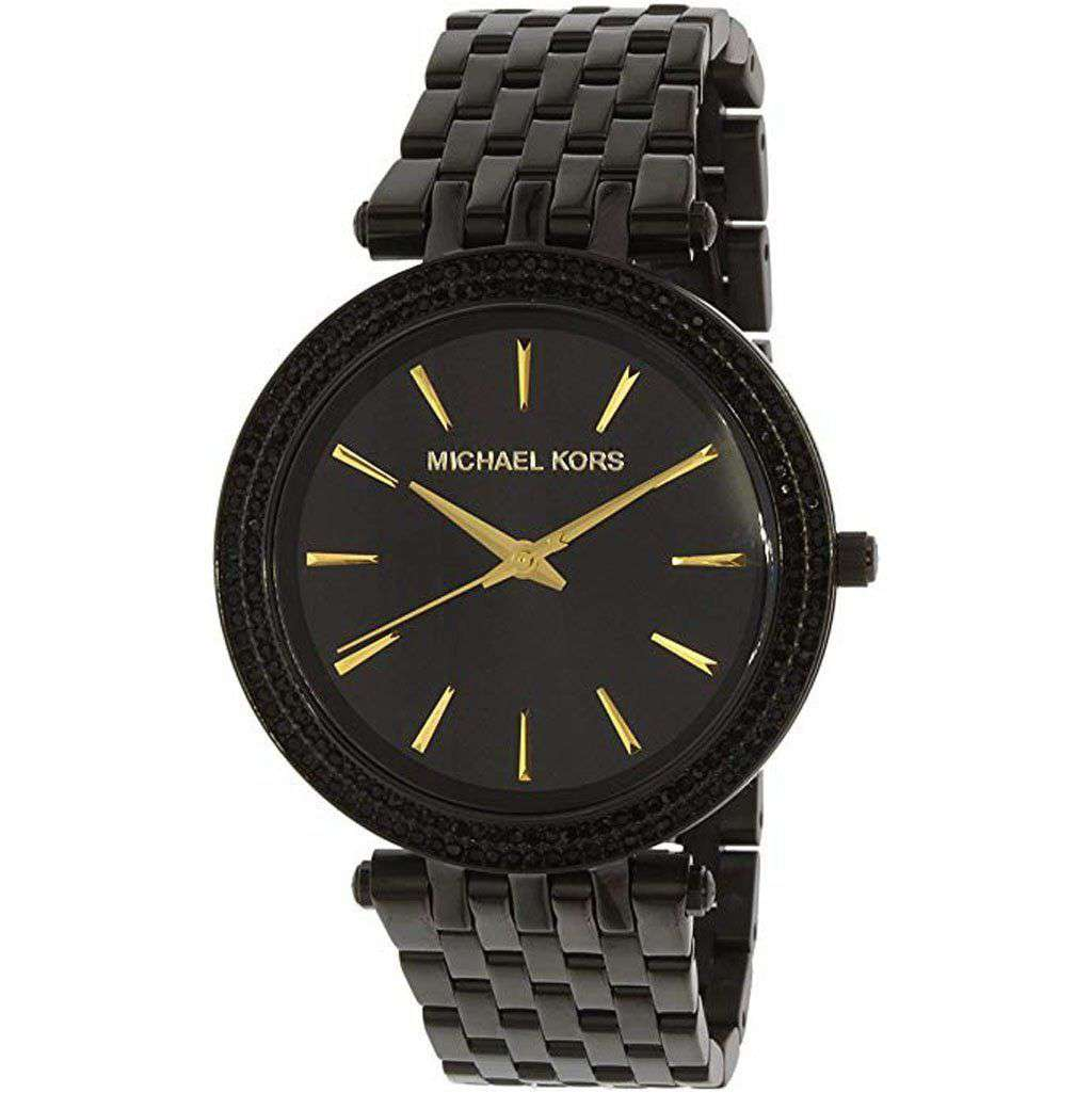 Michael Kors Women's MK 3337 Darci Black Watch Steel Umisfashion Store