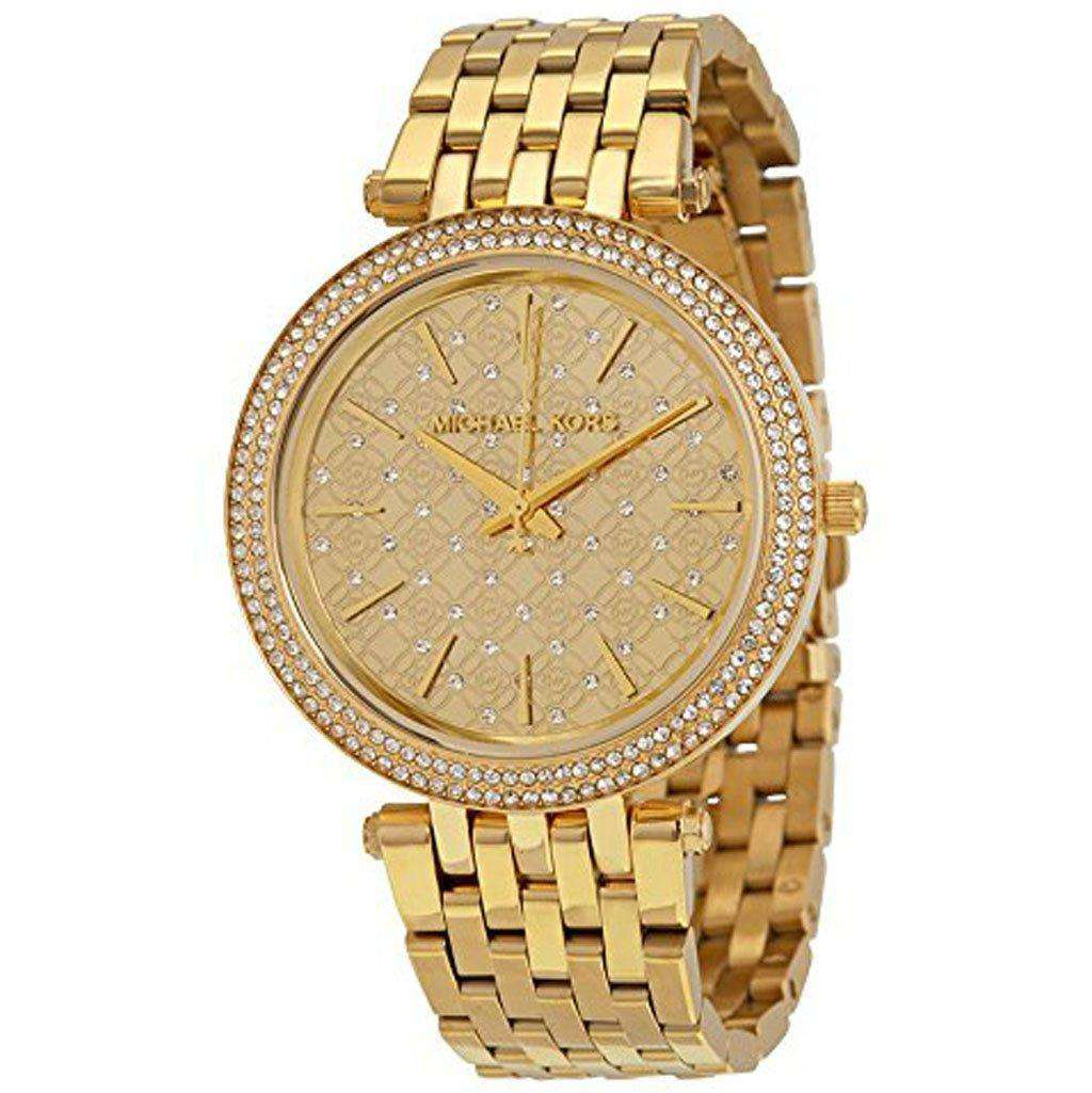 Michael Kors Women's MK 3398 Darci Gold Dial Watch Steel Umisfashion Store