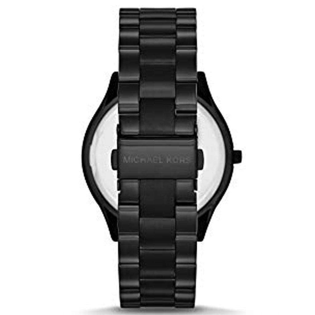 Michael Kors MK 3221 Women's Slim Runway Black Watch Steel Umisfashion Store