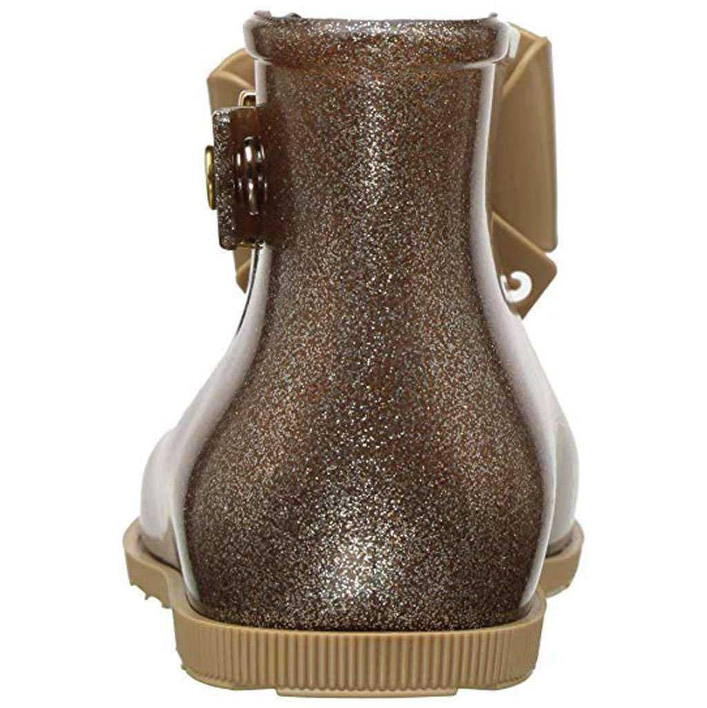 Mini Melissa Kid's Sugar Rain Mary Jane Flat - Brown Glitz Beige Umisfashion Store