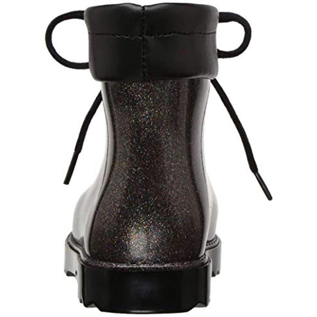 Mini Melissa Kids' Mini Rain Boot Shoe - Black Glitter Umisfashion Store
