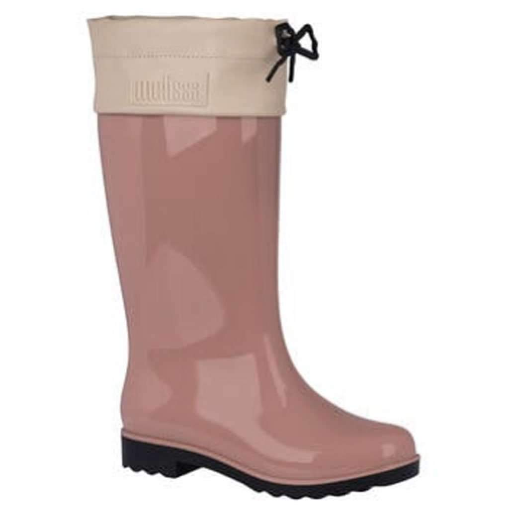 Melissa Shoes Women's Rain Boot - Pink Black Umisfashion Store