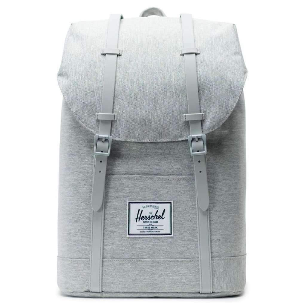 Herschel Retreat Backpack - Light Grey Crosshatch Leather Umisfashion Store