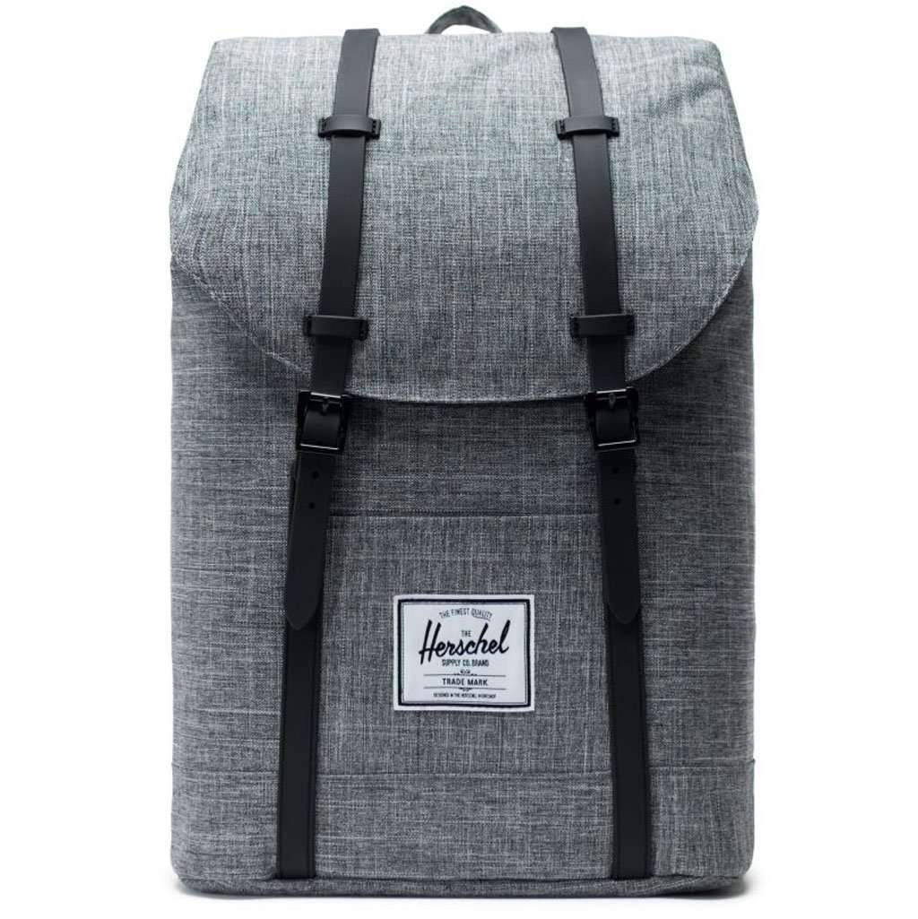 Herschel Retreat Backpack - Raven Crosshatch/Black Leather Umisfashion Store