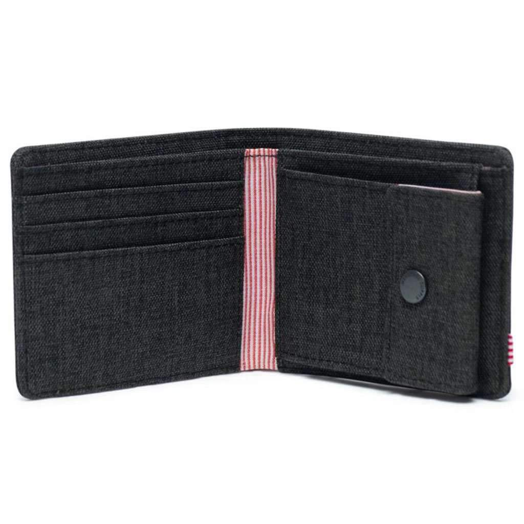 Roy Coin RFID Wallet - Black Crosshatch Accessories Umisfashion Store