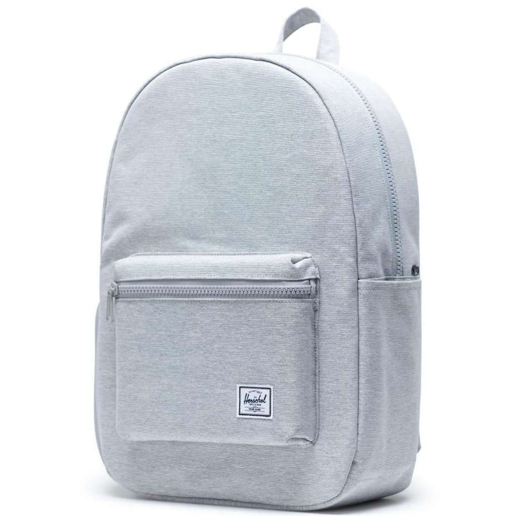 Herschel Settlement Backpack | Light Grey Crosshatch Leather Umisfashion Store