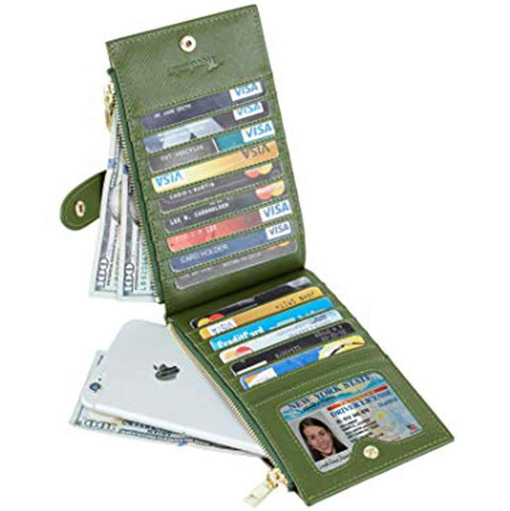 Travelambo Women's Wallet RFID Blocking Army Green Wallet Accessories Umisfashion Store