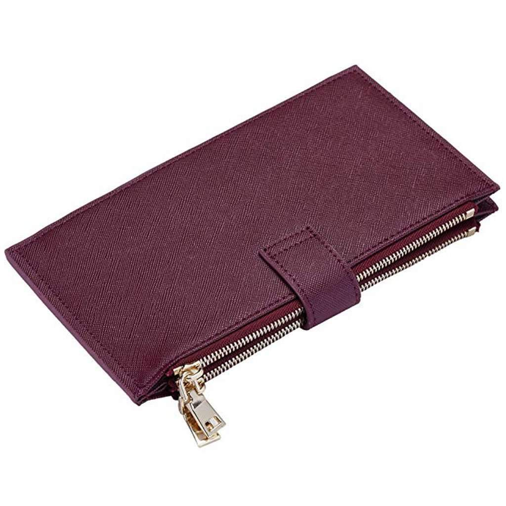 Travelambo Women's Wallet RFID Blocking Wallet - Red Wine Accessories Umisfashion Store