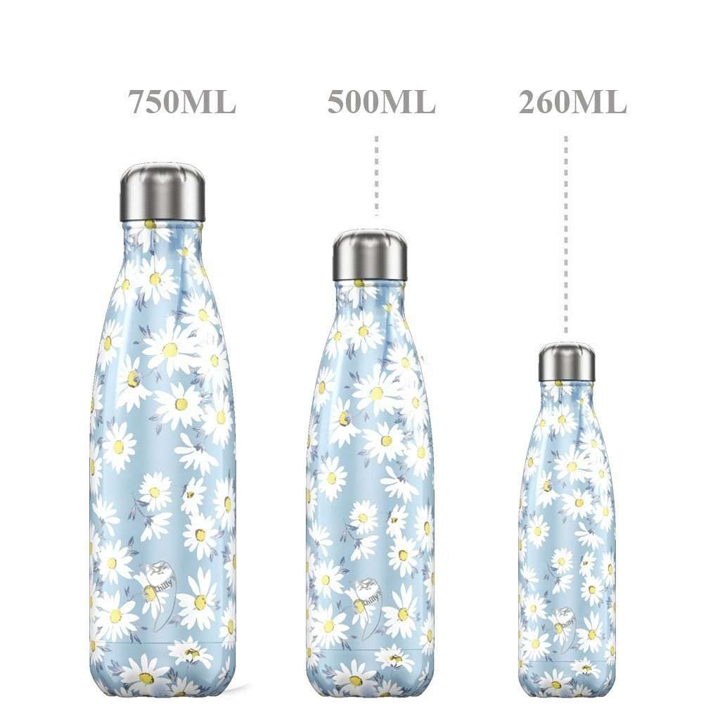 Chilly's Bottles - Reusable BPA-Free Stainless Steel Water Bottles (Daisy) Steel Umisfashion Store