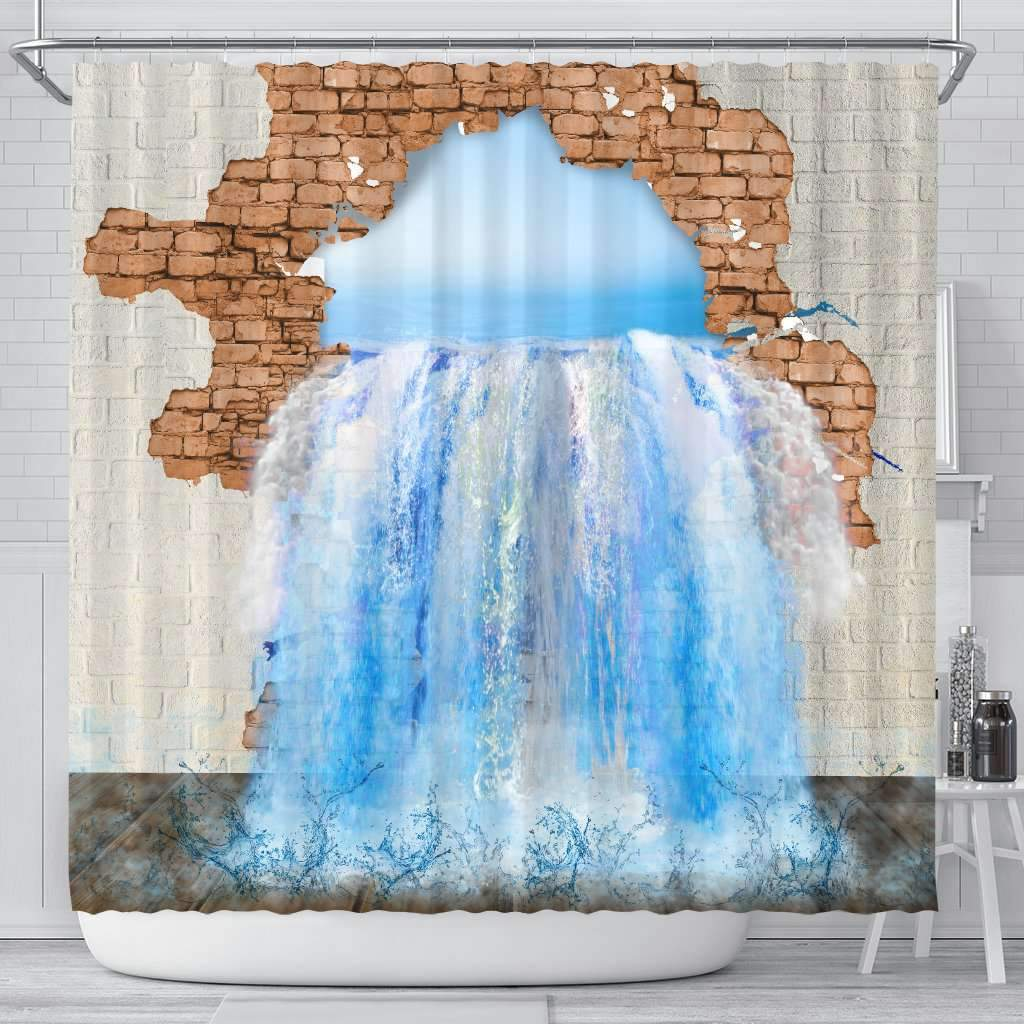 3D Shower Curtain - Water Leak Umisfashion Store