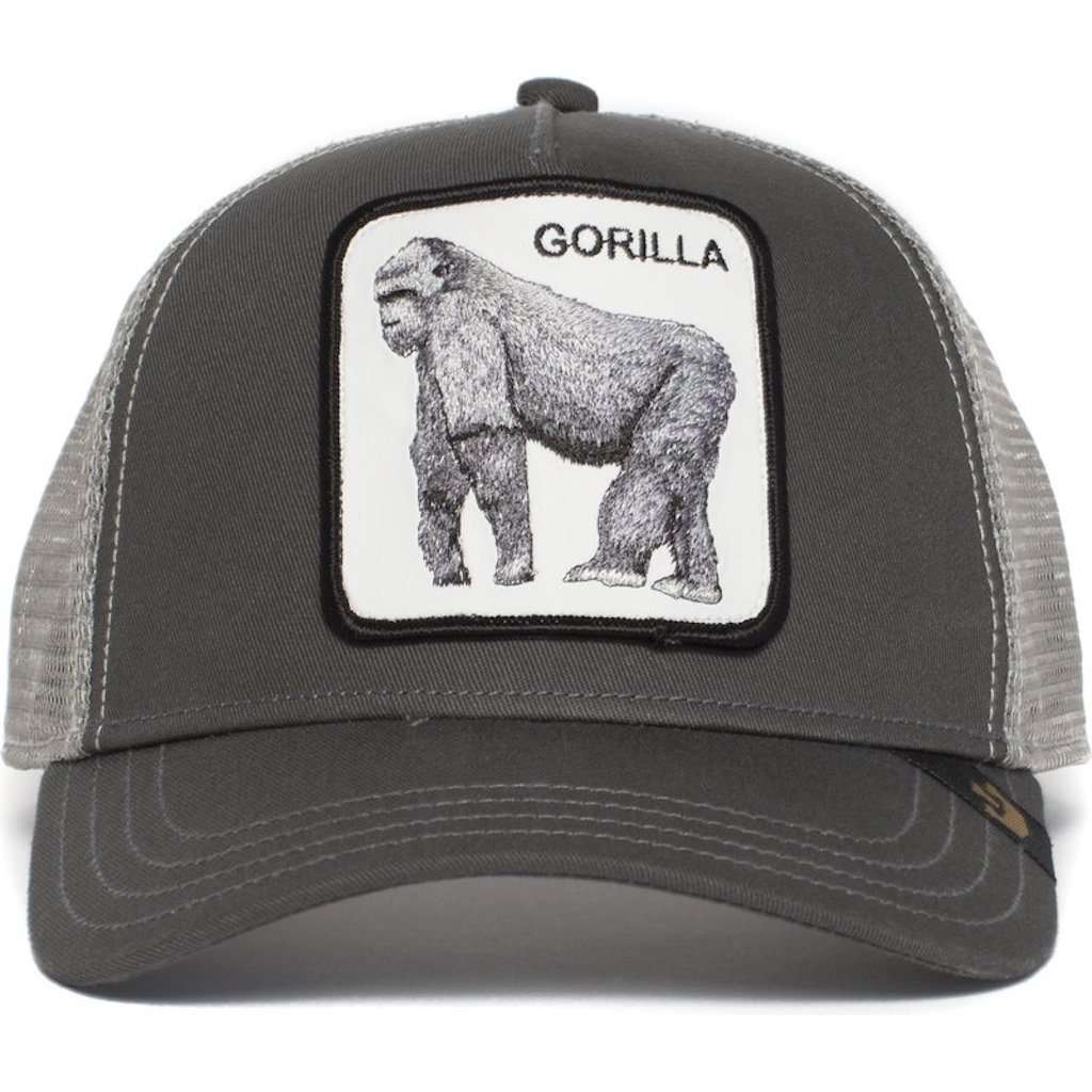 Goorin Bros King Of The Jungle Grey Gorilla Trucker Hat Accessories Umisfashion Store