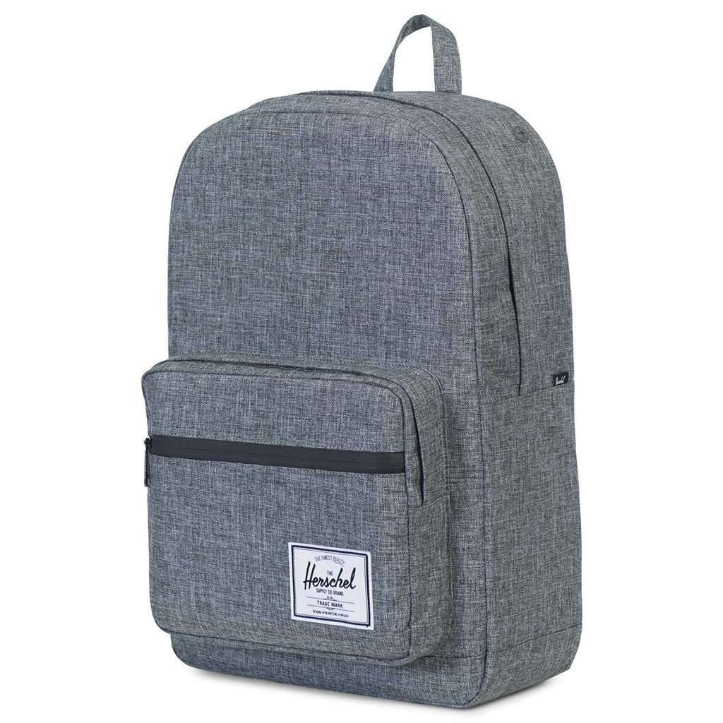 "Herschel Pop Quiz Backpack 15"" Raven Crosshatch Leather Umisfashion Store"
