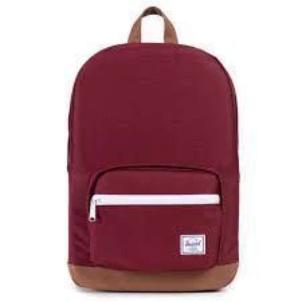 "Herschel Pop Quiz Backpack 15"" - Windsor Wine/Tan Umisfashion Store"