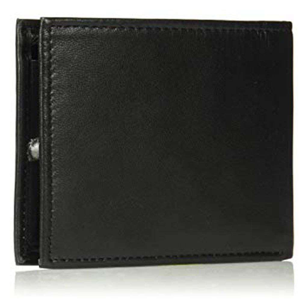 Tommy Hilfiger Bifold Men's Black Leather Wallet Accessories Umisfashion Store