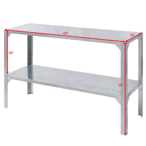 Galvanized Steel Work Table or Potting Bench