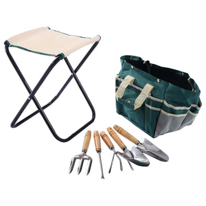 Gardeners Hand Tool Set with Satchel and Seat