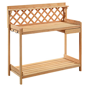 Potting Table or Plant Stand with Beautiful Lattice Work Back