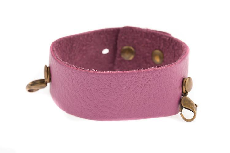 Orchid Thin Leather Cuff Lenny and Eva