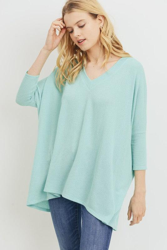 Stay a Little While Mint Top