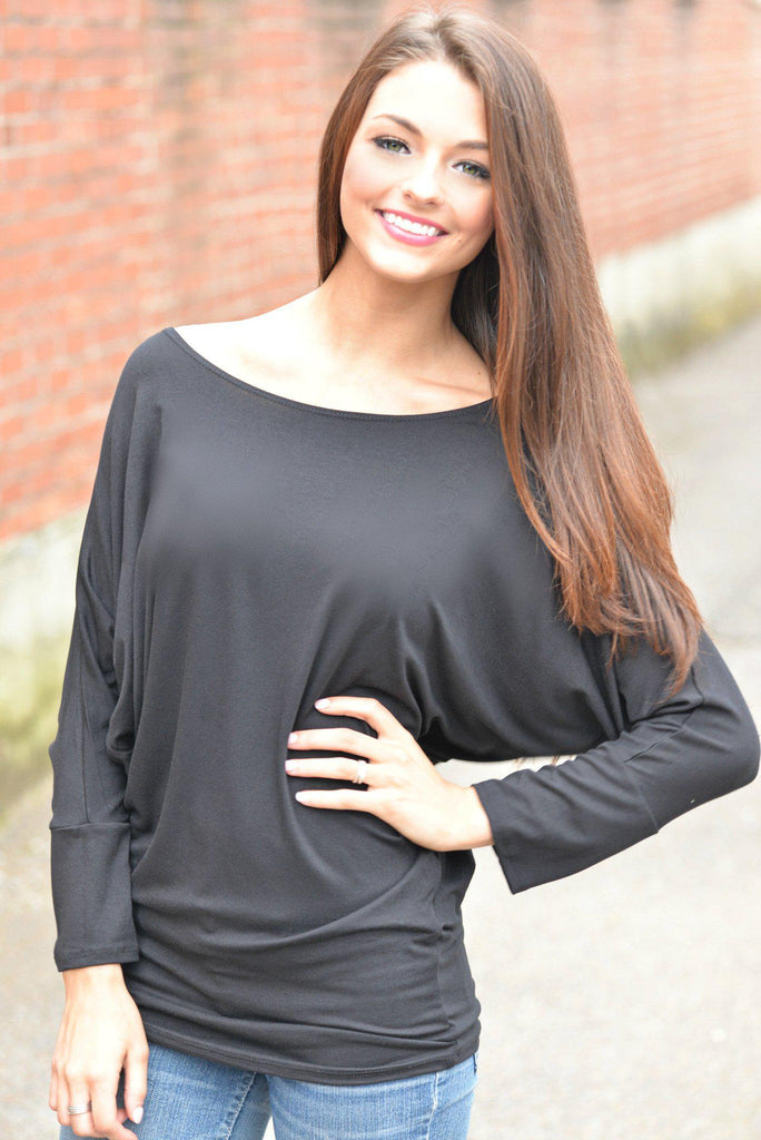 Black Dolman Top