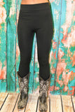 Black Fleece Lined Leggings One Size