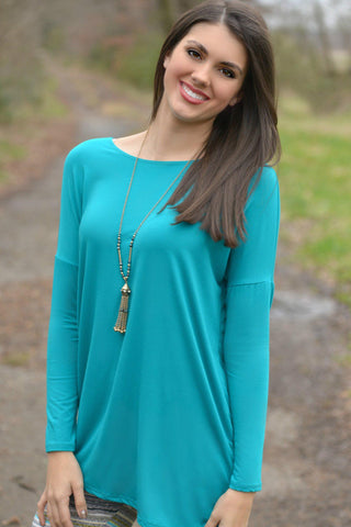 Go With the Flow Cardigan Turquoise