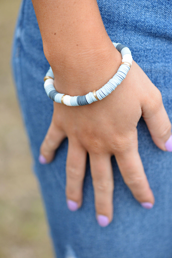 Shades of Gray Stretch Bracelet