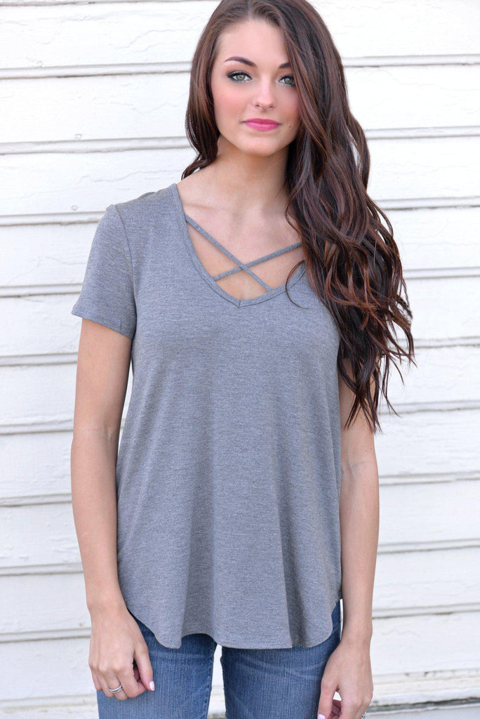Casual Crush Gray Top