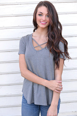 Cross My Path Cowl Neck Top