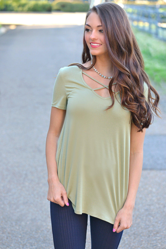 Casual Crush Sage Top