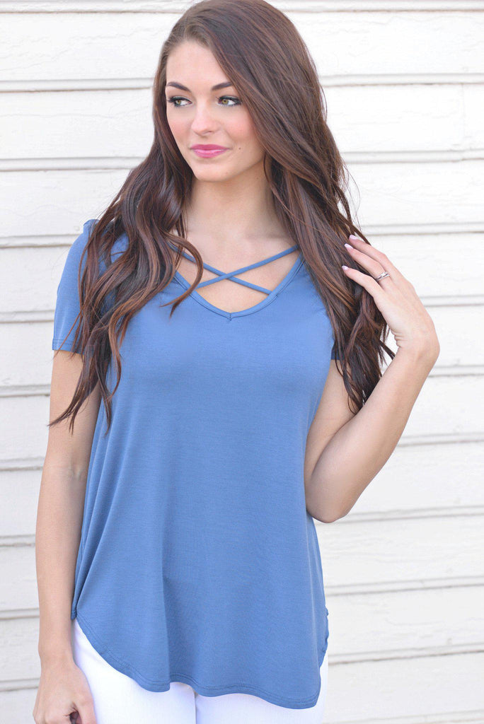 Casual Crush Denim Blue Top