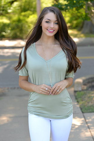 Double the Fun Mocha Ruffle Top