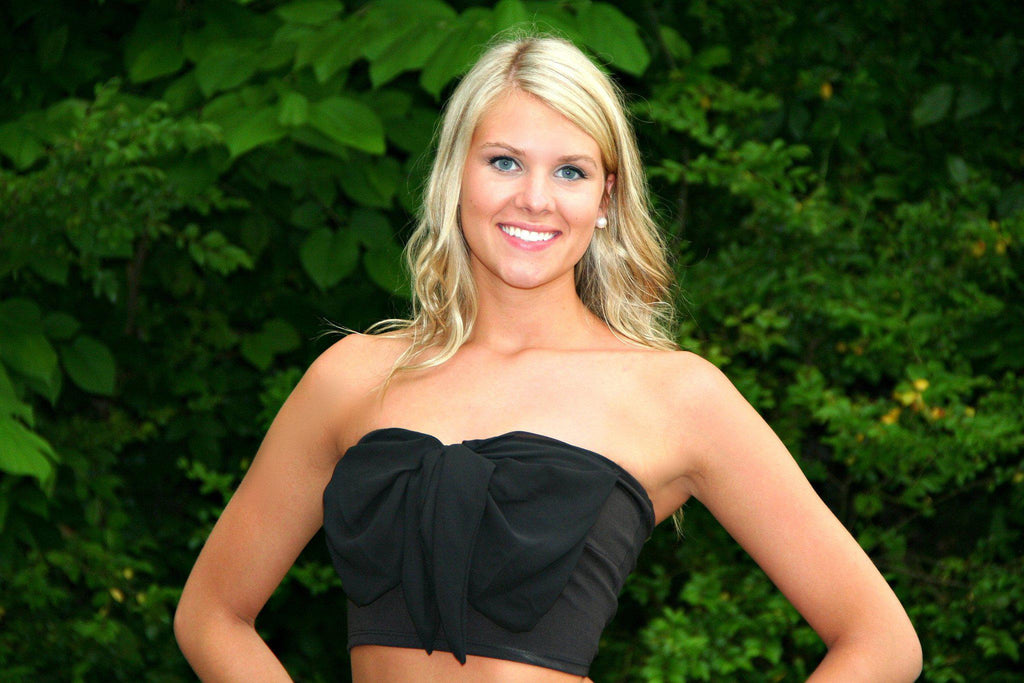 Black Bow Crop Top