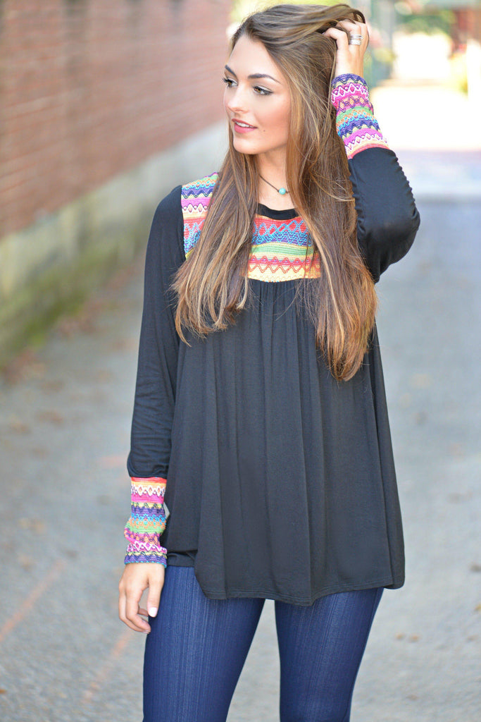 Embroidered Envy Top