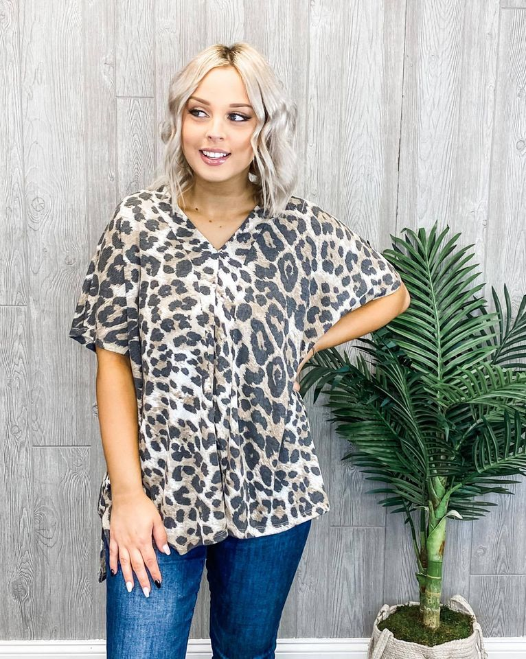 Everything Nice Leopard Top - One Size