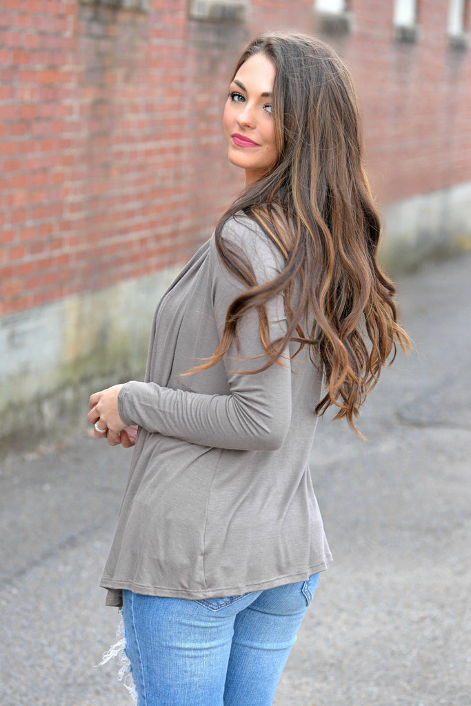 Go With The Flow Mocha Cardigan
