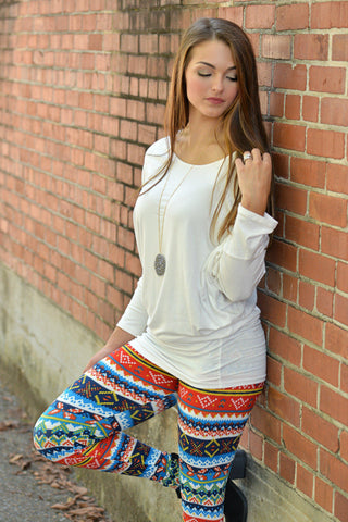 Girl Next Door Print Leggings