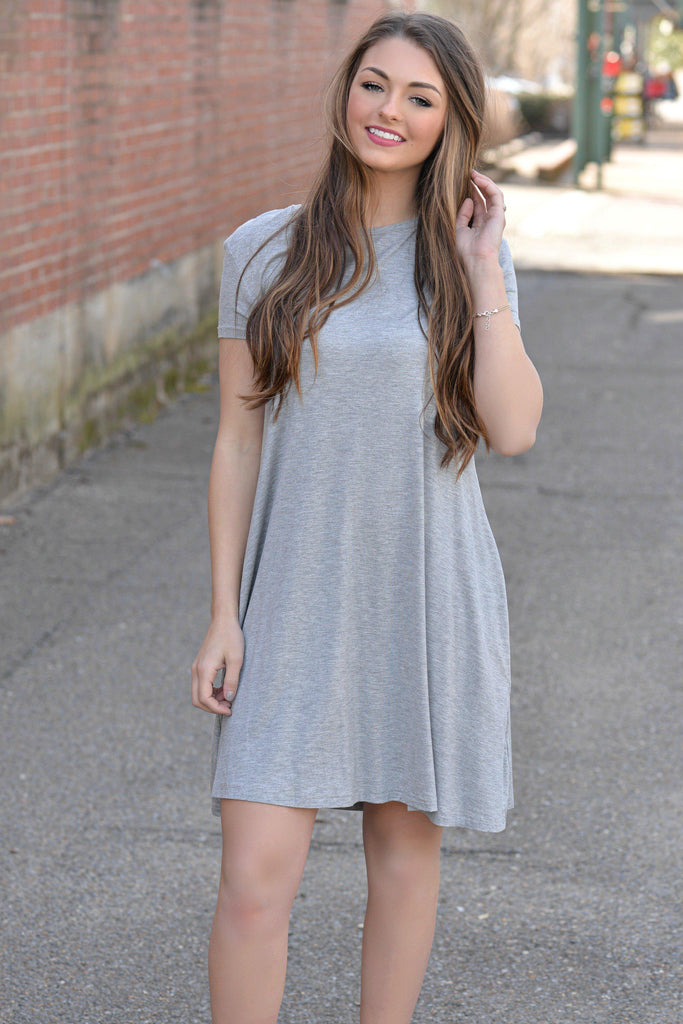 Irresistible You Gray PIKO Dress